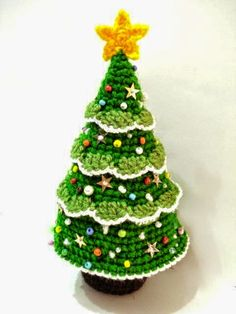 Super colección de Pinos Navideños al crochet para tomar ideas