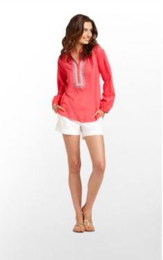 Perfect color tunic for white or jeans