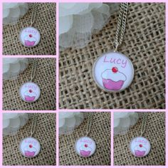 Personalised Bridesmaid Gift Cup Cake Art Pendant Necklace x 6 £38.25