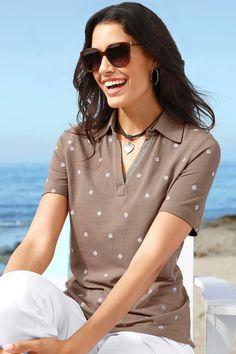 Capture European Spot Embroidered Polo Shirt Online | Shop EziBuy