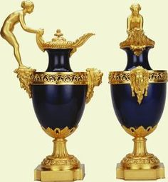 Pair of vases mounted as ewers    c.1782-7    Sèvres    Acquired by George IV when Prince of Wales
