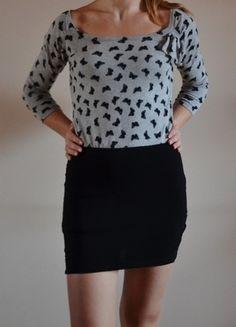 Kup mój przedmiot na #vintedpl http://www.vinted.pl/damska-odziez/dlugie-swetry/5690699-szary-sweter-w-motylki-mohito-m