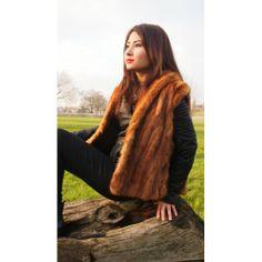 Mint Royal Golden Real Mink Fur Gilet. Buy @ http://thehubmarketplace.com/Monis-Londres-Golden-real-mink-fur-bodywarmer-cape