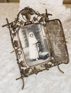 Rare 19thC. Art Nouveau French Mirror/Picture Frame