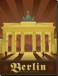 Berlin, Germany....vintage Travel poster
