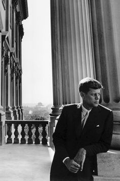 John F. Kennedy, United States Senator, photographed by Arnold Newman in Washington, D.C. (1953)