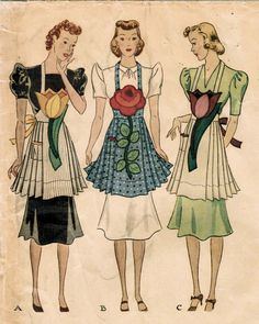 vintage apron patterns -