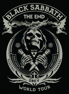 Shepard Fairey Black Sabbath The End Tour Posters Release Hard Rock, Black Sabbath The End, Concert Rock, Poster Retro, Gig Poster, Print Poster, Rock Y Metal, Illustration Photo, Illustrations