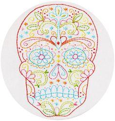 Embroidery+Pattern+Skull+Calavera+Dia+de+Los+by+polkaandbloom,+$6.75