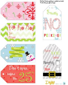 Adorable free Christmas tag printable... from Delightful Design Ideas