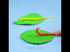 5-Minute Crafts | A caterpillar from a straw - YouTube