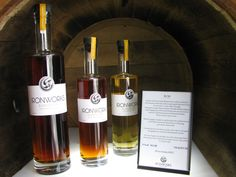 Some of products produced by The Ironworks Distillery - Lunenburg