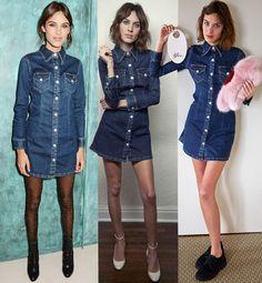 Alexa Chung - Vestido Jeans
