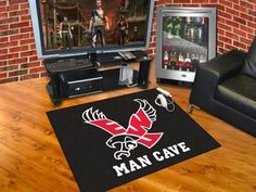 Eastern Washington University Man Cave All-Star Mat 33.75x42.5 - red