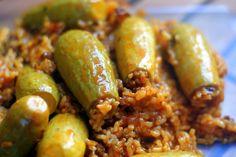 Kousa Mahshi - Lebanese stuffed zucchini's.......oh so delicious!!!!