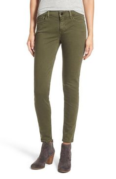SP Black Stretch Cotton Skinny Jeans available at #Nordstrom