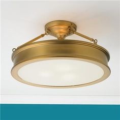 Traditional Urban Semi Flush Ceiling Light-I want this one for where maybe laundry room or hall way