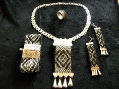 joyas en plata alpaca y textil, por la comunidad mapuche