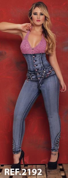 New Smoking Hot Clubwear Jumpsuit Sexy Colombian Jean Overrals Young Fashion❣ | eBay