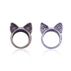 65db5d49410723 Kitty Bengal Ear Ring – FreakyPet Ringe Silber, Einzigartig, Vintage Katze,  Einzigartiger Jahrgang