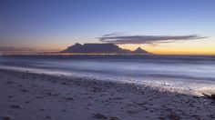 "Table Mountain, Cape Town, South Africa. Table Mountain was declared 1 of the ""New 7 Natural Wonders of the World"" in 2011.   #travel #destinations #lovecapetown #southafrica #sunset"