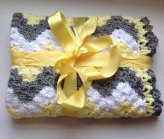Crochet baby blanket chevron baby blanket handmade by ndolceshop