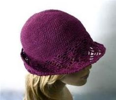crochet cloche hat pattern free | Purple Crochet Cloche/Bucket Hat ...