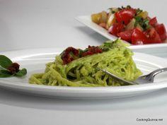 Avocado Pesto Quinoa Pasta Recipe - Cooking Quinoa   Make this recipe with Ancient Harvest Supergrain Pastas!