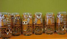 set of 6 hard to find owl drinking glasses Vintage Cocktails, Vintage Bowls, Hard To Find, Mug Cup, Vintage Kitchen, Cool Kitchens, Drinking, Mugs, Glasses