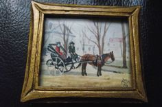 Original Willard Morris Mitchell 'Old Fashioned Caleche' hand signed on back??!!