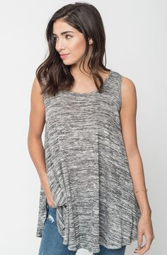 http://www.caralase.com/heathered-sleeveless-tunic/