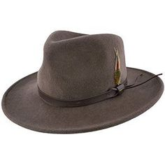 Darwin - Scala DF6 Pecan Crushable Wool Felt Outback Hat 418063e4645a