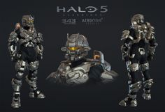ArtStation - Halo 5 Multiplayer Armor Shinobi, Airborn Studios