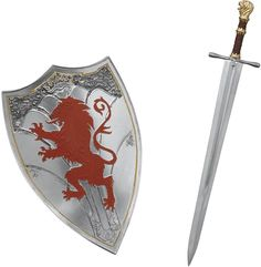 Peter Pevensie's sword and shield from Narnia Narnia Costumes, Narnia 3, Swords And Daggers, Chronicles Of Narnia, Thing 1, Warrior Princess, Weapons, Witch, Polyvore