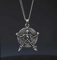 See related links to what you are looking for. Star Pendant, Pendant Necklace, Jewelry Gifts, Jewellery, Vintage Gothic, Gothic Jewelry, Organza Bags, Bling Bling, Skeleton