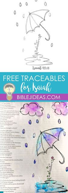 Bible Journaling: Free Trace-ables for Isaiah<br> Bible Love, My Bible, Bible Art, Bible Scriptures, Bible Quotes, Bible Journaling For Beginners, Bible Study Journal, Scripture Study, Art Journaling