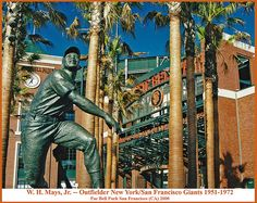 Willie Mays Statue -- Pac Bell Park San Francisco (CA) August 2000