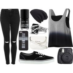 Blacked out outfit
