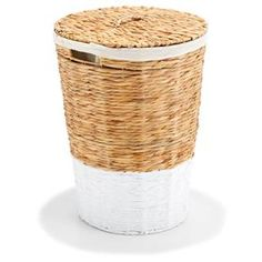 Image for Dipped Laundry Hamper - White from Kmart Storage Baskets, Storage Organization, Kmart Decor, Adairs Kids, Bamboo Shelf, White Vanity Bathroom, Shabby Chic Kitchen, Kitchen Decor, Laundry Hamper