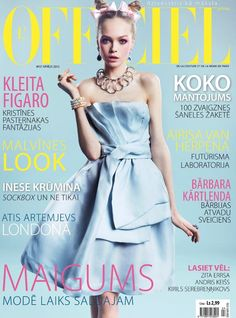 L'Officiel Latvia cover with Siri Tollerod - April 2012