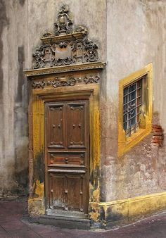 old door in Strasbourg