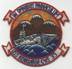 Ship's patch - USS Kearsarge (CVS-33) Us Navy, Uss Kearsarge, Vintage Patches, Emblem, Navy Ships, Submarines, Aircraft Carrier, Warfare, Planes