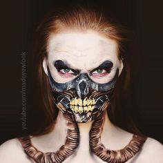 TONIGHT on #youtube.com/Madeyewlook, #immortanjoe from the movie #madmax  This look was HIGHLY requested. Hold on to your flames ladies and gentleman, this look is #detailed.
