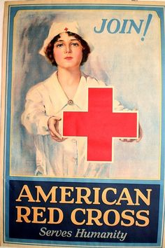 Original  Red Cross Serves Humanity 1926 Poster