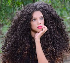 Long Curly Hair, Curly Girl, Big Hair, Curly Hair Styles, Natural Hair Styles, Big Curls, Permed Hairstyles, Goddess Hairstyles, Hair Videos