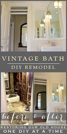 Vintage Inspired Diy Bathroom Remodel. Before And After Photos...
