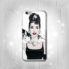 Audrey Hepburn Breakfast at Tiffanys iPhone 6S 6 by Lantadesign