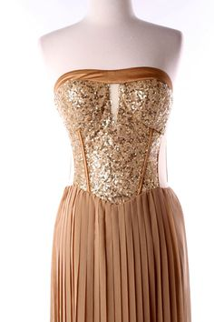 Hollywood Gold Glam High-Low Dress  Fabulous Prom Dress  100% Polyester    On sale!  Take 40% Off Orig Price $49  Now $29.40