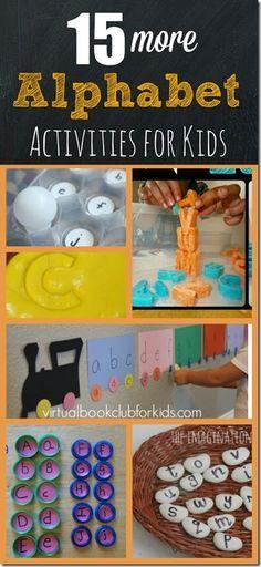 15 more alphabet activities for kids - super creative and fun letter learning activities (toddler, preschool, kindergarten)