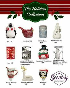 Scentsy Holiday Collection 2015. Place an order at: http://ashleypaige.scentsy.us/